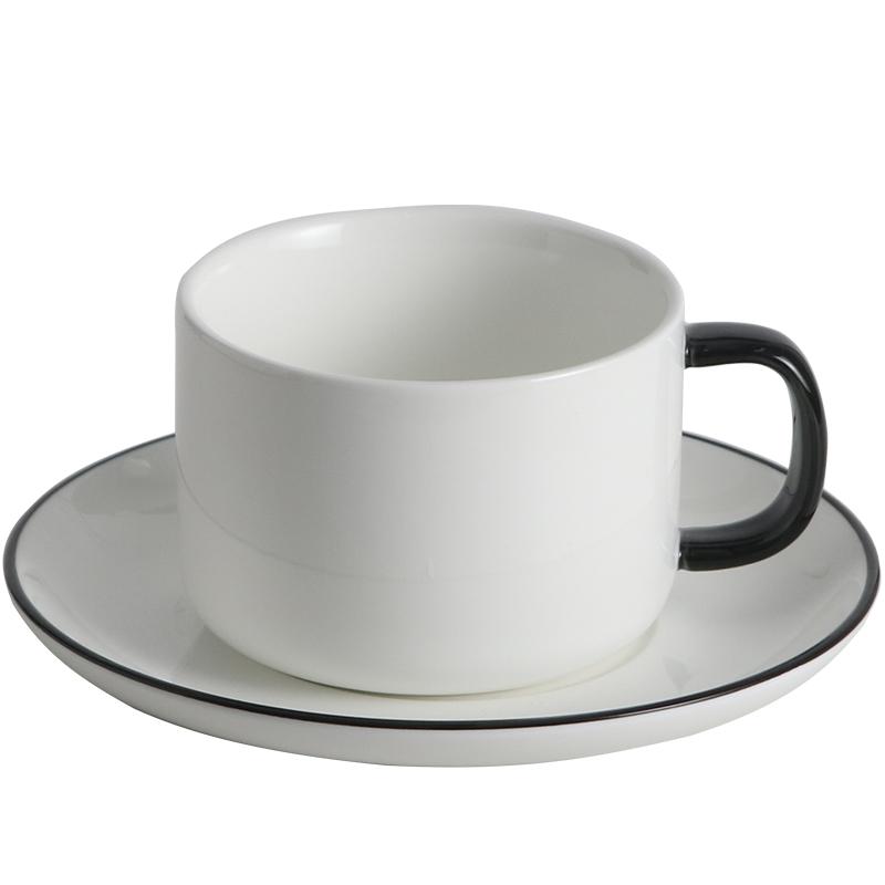 咖啡杯套装简约家用 欧式小奢华高档英式陶瓷下午茶杯茶具6件套装