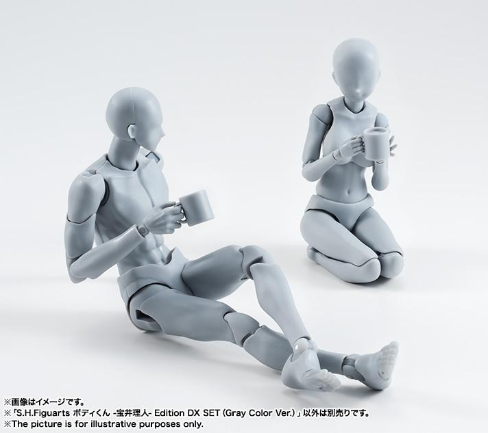 动漫SHF关节可动素体男女人体 手办人偶素描参考美术绘画漫画模型