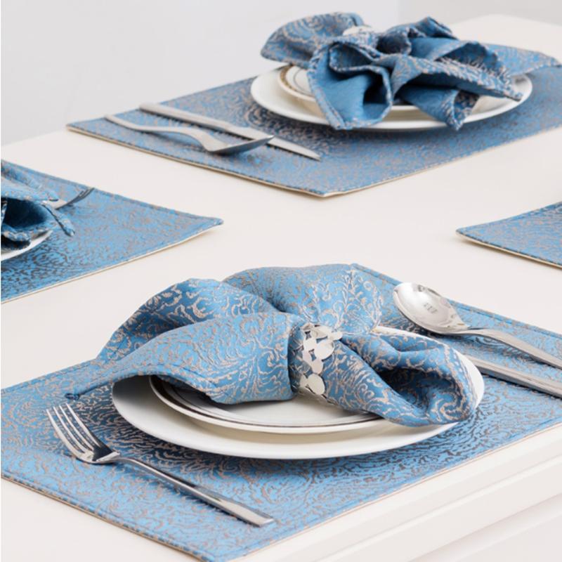 欧式饭店餐巾布口布折花布涤棉酒店餐布口水布样板房餐桌布艺方巾