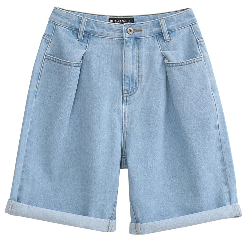 韩都衣舍2018韩版女装夏装新款款休闲显瘦直筒五分牛仔裤MM8844煜