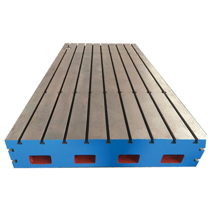 铸造铸铁焊接平台机床加高辅助T型槽工作台面电机测试试验台底座