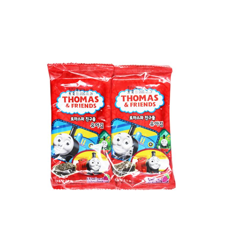 进口托马斯小火车海苔儿童即食海苔宝宝海苔儿童海苔脆片33袋