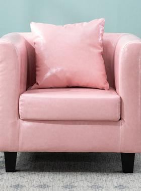 简约现代小户型单人沙发 双人三人组合皮质沙发 宾馆出租房沙发椅