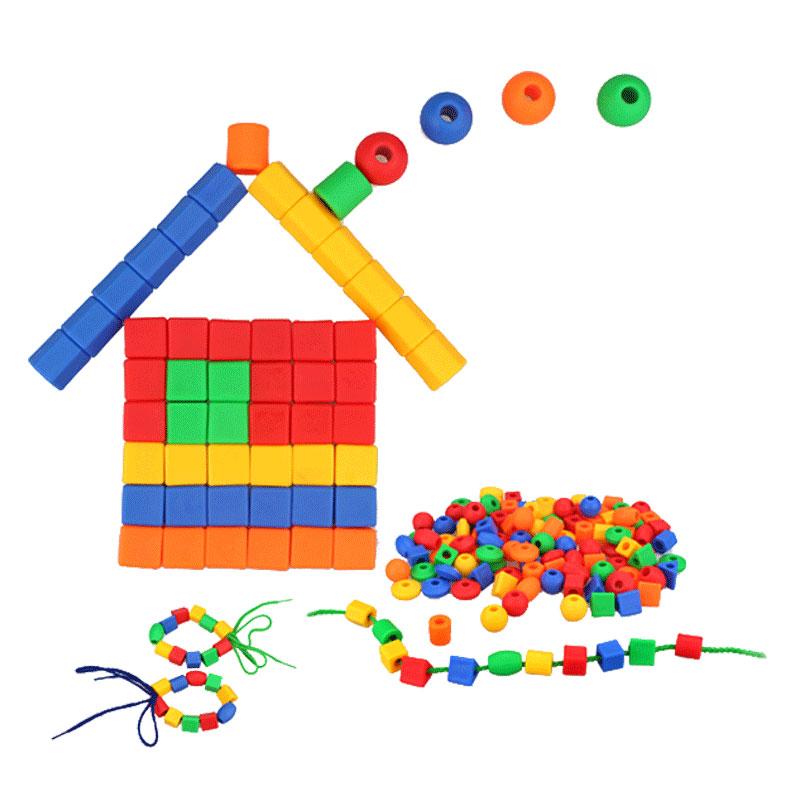 1-2岁3岁儿童玩具积木早教绳子穿珠子绕珠穿线串珠玩具宝宝益智