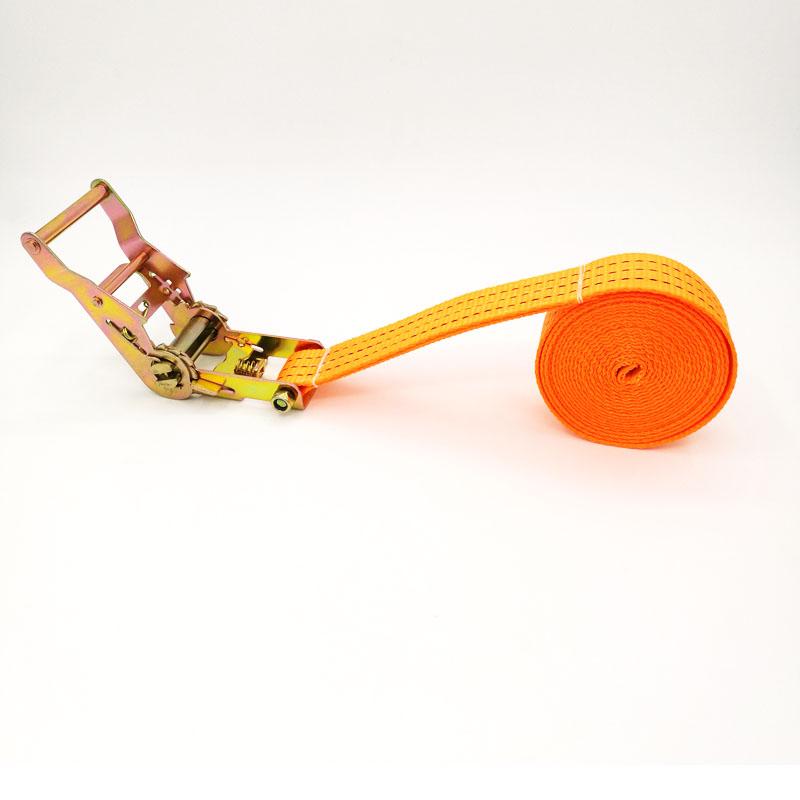无钩涤纶带货物捆扎带收紧带拉紧带越野车捆绑带棘轮拉紧器 3.8CM