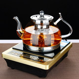 Electric ceramic heaters heat-resistant glass teapot boiling pot cooker special stainless steel filter tea kettle suit
