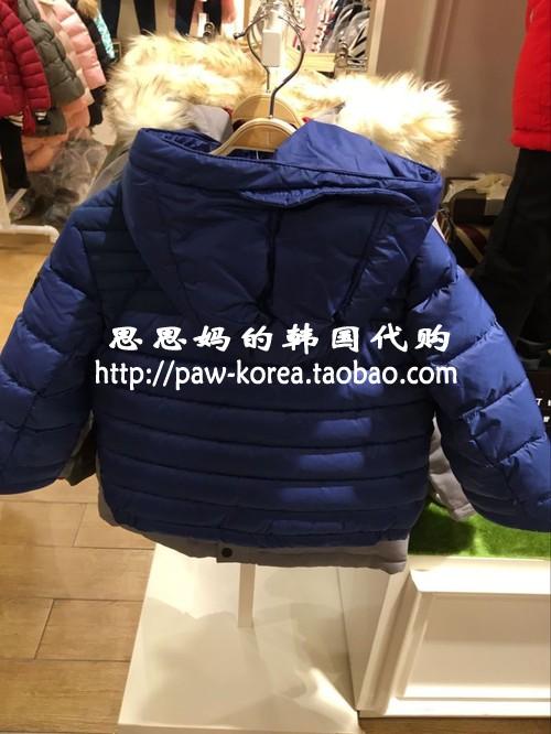 OHOO童装韩国专柜正品中大童冬装新款男童棉服外套ohjp64tb01