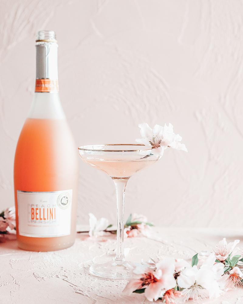 罗密欧贝利尼鸡尾酒,女生喝的颜值桃子酒