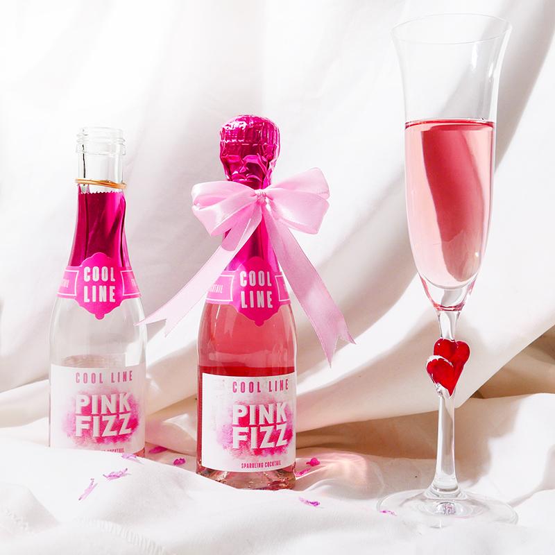 荔枝小姐起泡葡萄配制酒 荔枝味儿小粉瓶 法国进口桃红气泡 200ml