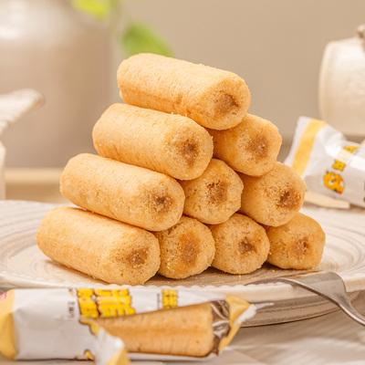 笨笨狗膨化食品粗粮夹心米果 能量棒糙米卷 早餐饼干休闲零食54支 - 图3