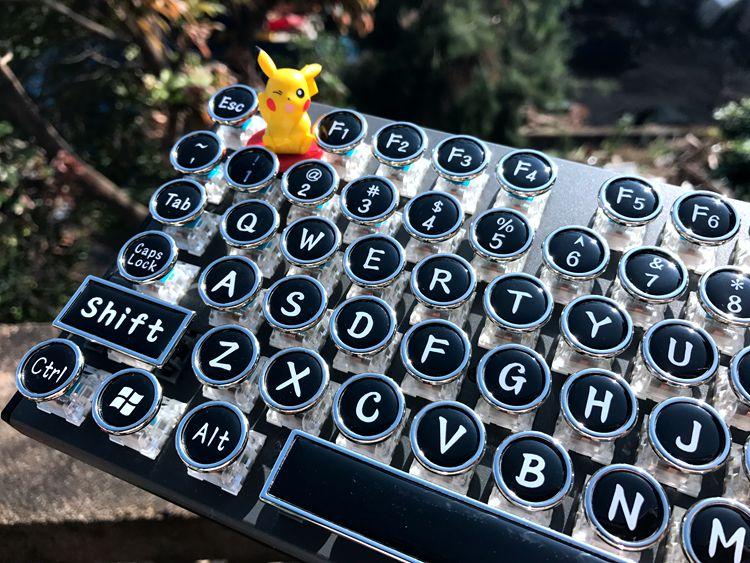 工业革命大师 机械键盘青轴黑87 104 蒸汽朋克复古手工键盘打字机