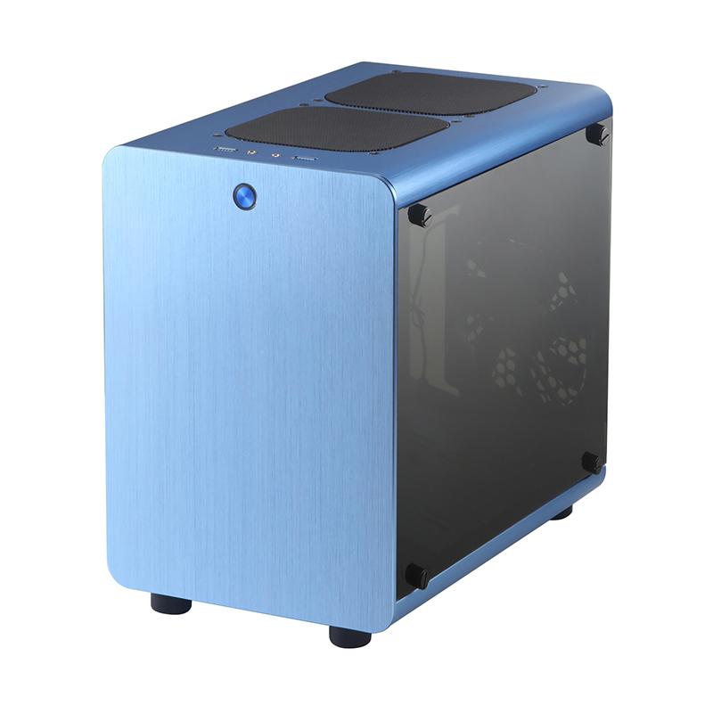 SKTC Q2铝壳铁架构机箱玻璃侧透迷你小机箱小钢炮ITX/uATX
