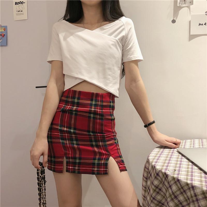 ins超火网红一字肩短袖T恤女夏韩版潮短款高腰露脐性感修身上衣服