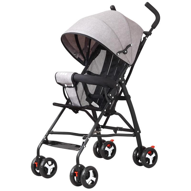 超轻便携婴儿推车简易折叠可坐宝宝伞车儿童小孩小bb外出手推车夏
