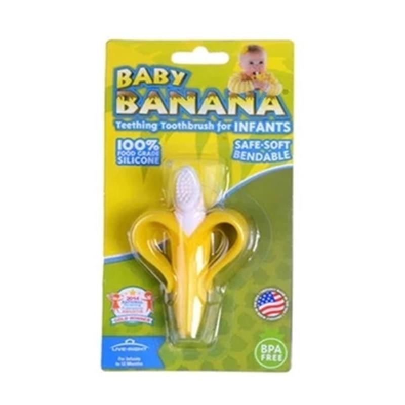 美国正品Babybanana婴儿宝宝牙胶牙刷硅胶磨牙棒幼儿童咬咬胶玩具