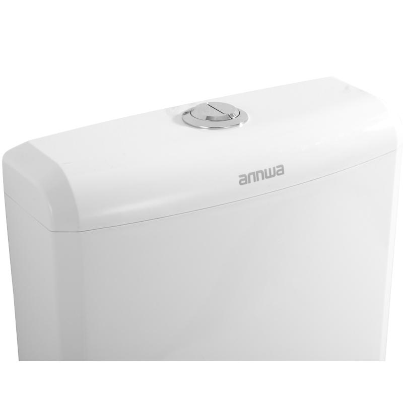 安华蹲便器水箱aSL806/3/8厕所冲便器蹲厕便池蹲式大便器挂墙式