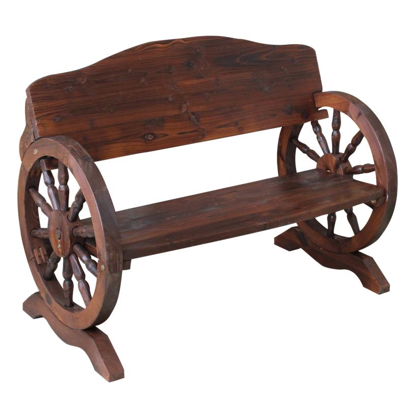 户外防腐木休闲桌椅家具花园庭院实木桌椅咖啡厅公园酒吧车轮桌椅
