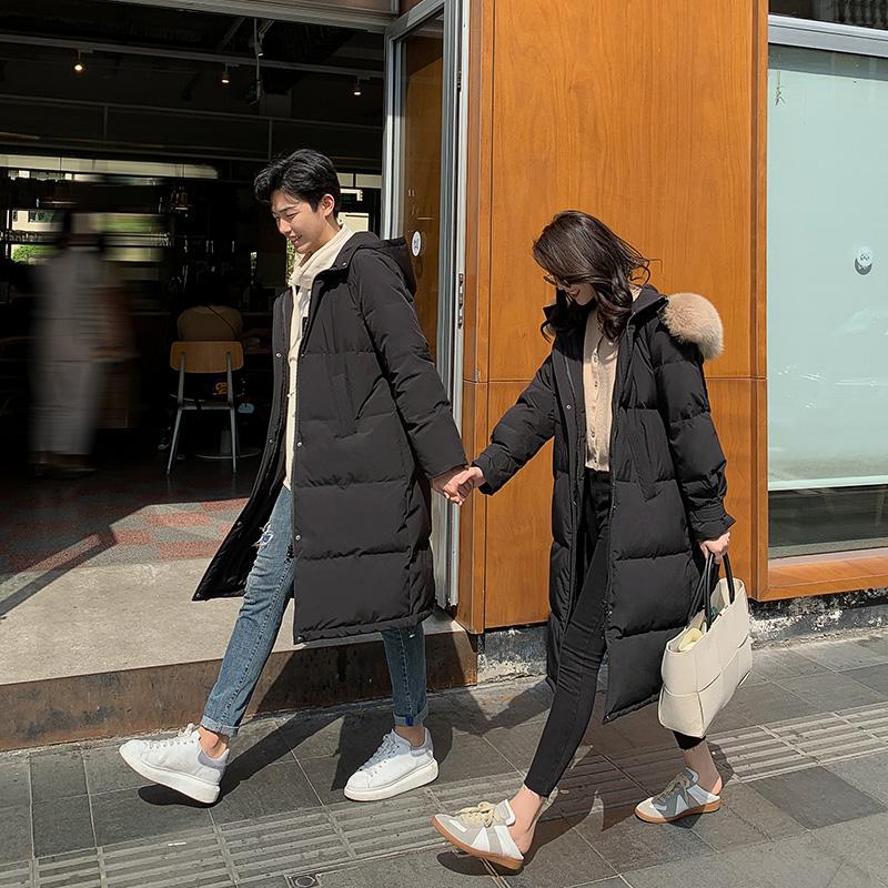 年冬季新款狐狸大毛领羽绒服女中长款 2020 北海道恋人 胡楚靓