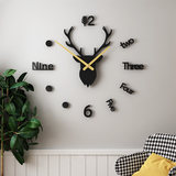 Free punch diy clock wall clock living room home fashion clock modern simple decoration personality creative Nordic table