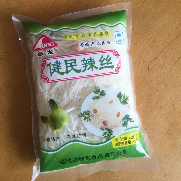 山东诸城特产健民辣丝子辣菜芥菜丝5袋*420克下饭菜咸菜泡菜包邮