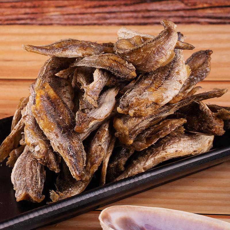 特產野生海鮮干貨黃花魚小吃魚干零食 100g 即食香酥小黃魚干罐裝
