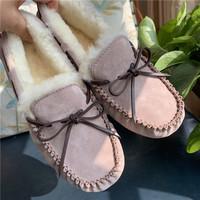 LBCUGG澳洲羊皮毛一体羊毛冬加绒休闲毛毛豆豆鞋女雪地靴LBСUGG (¥143)