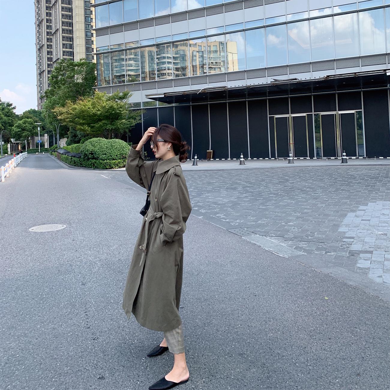 实力出击  气质廓形风衣女中长款 细节设计经典款外套 ASM ANNA