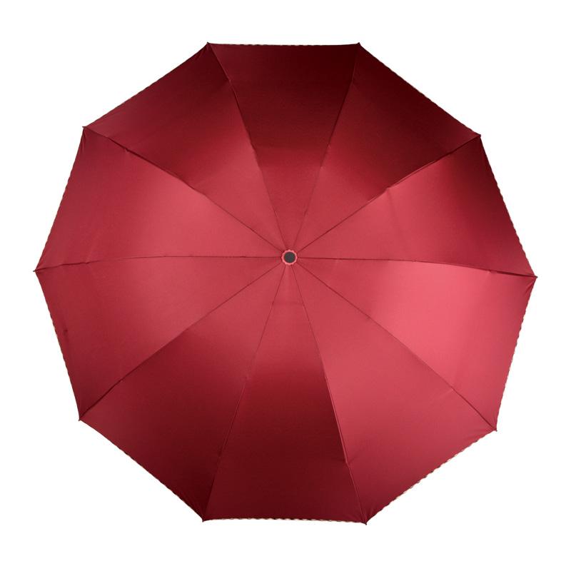 雨傘 S7532 三折特大易甩干商務傘 HY 紅葉