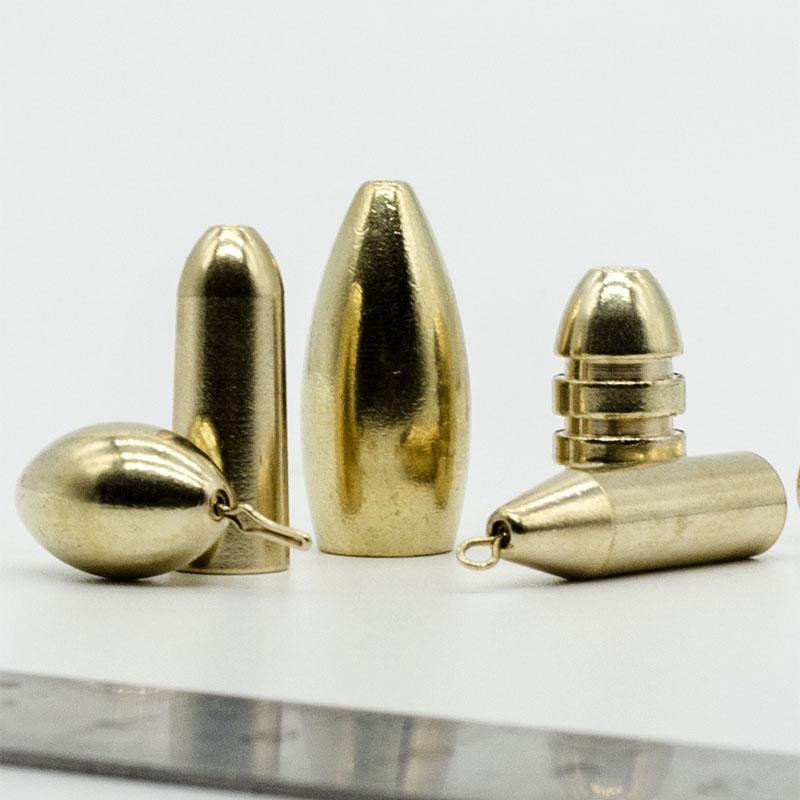 路亚珠子铜 枚装珠子铅德州钓组套装曲柄钩配重夜光挡珠铜铅坠  10