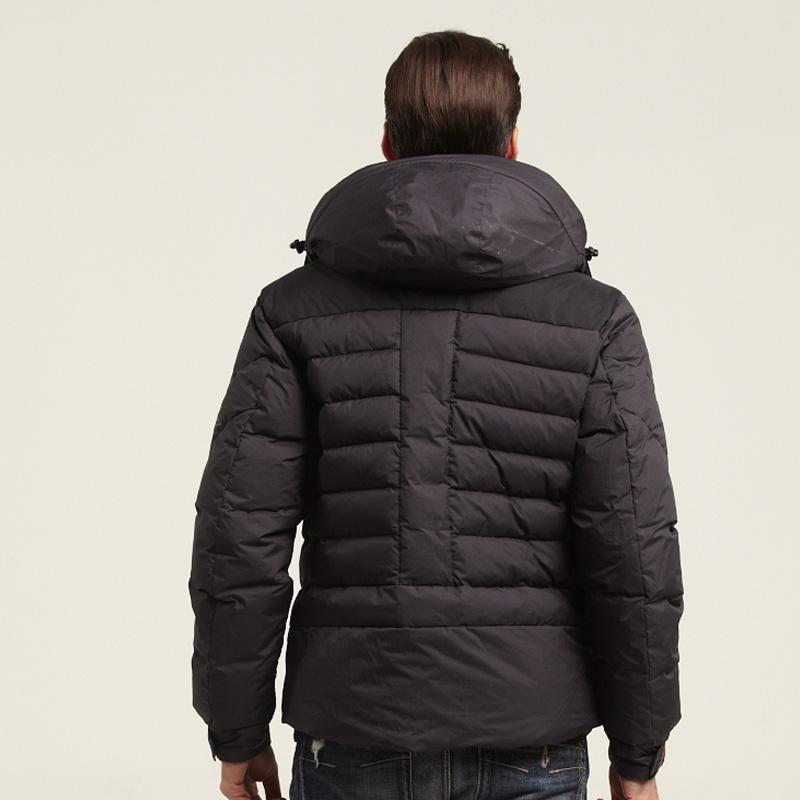 SHARON/雪伦羽绒服正品外套男款短款时尚简约双层连帽羽绒服62601