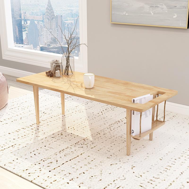 茶几实木日式北欧现代简约创意时尚个性茶桌茶台小户型榻榻米矮桌