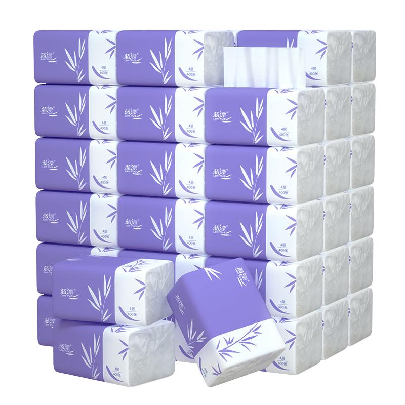 400张抽纸大包纸巾家用整箱卫生纸家庭实惠装餐巾纸面巾纸擦手纸