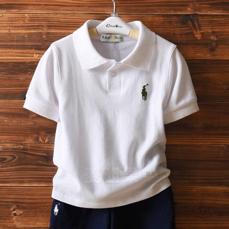 纯棉儿童短袖t恤中大童装女童男童夏装2019新款背心宝宝polo衬衫