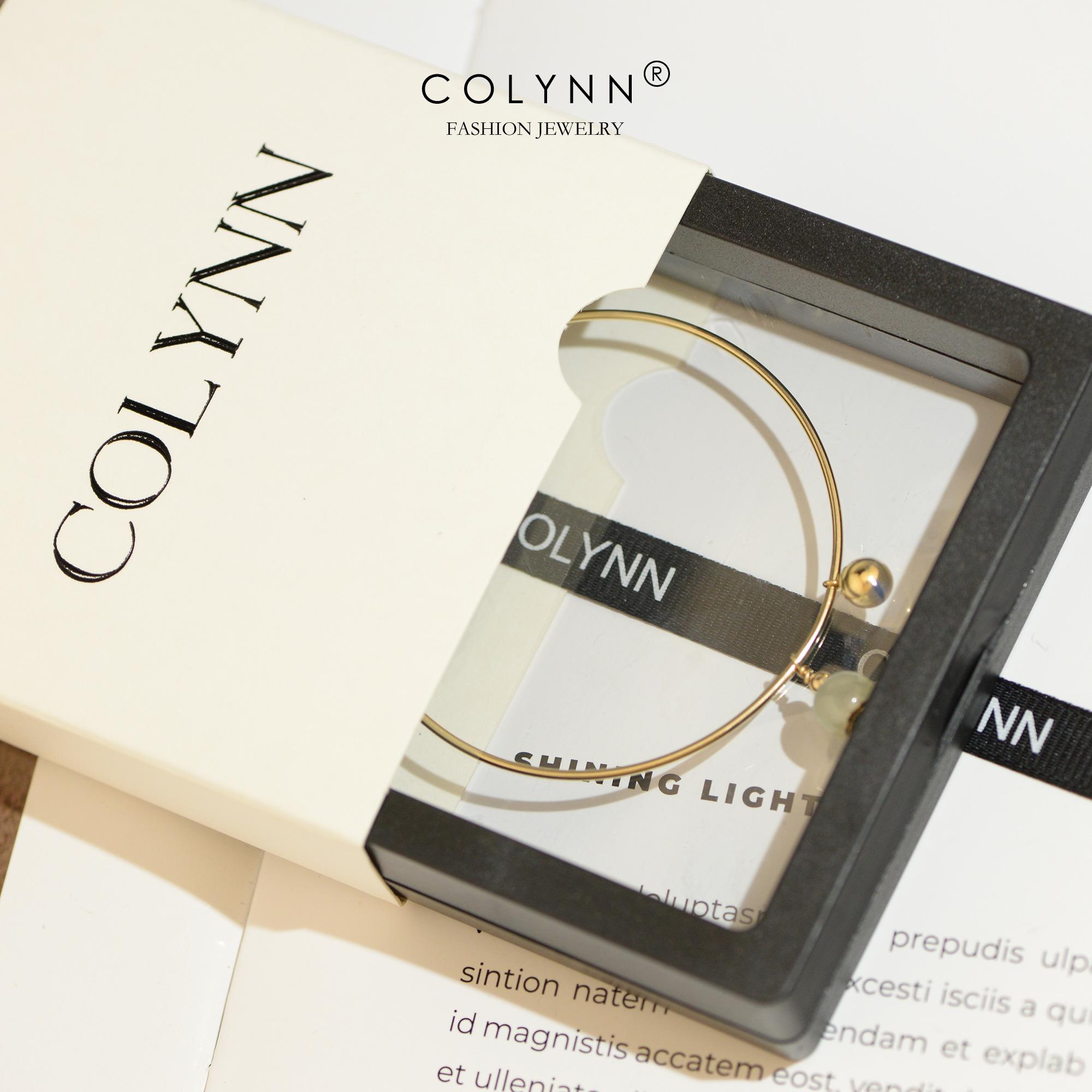 简约冷淡风天然和田玉晴水料进口  包金磁扣手镯女 14K COLYNN 蔻琳恩