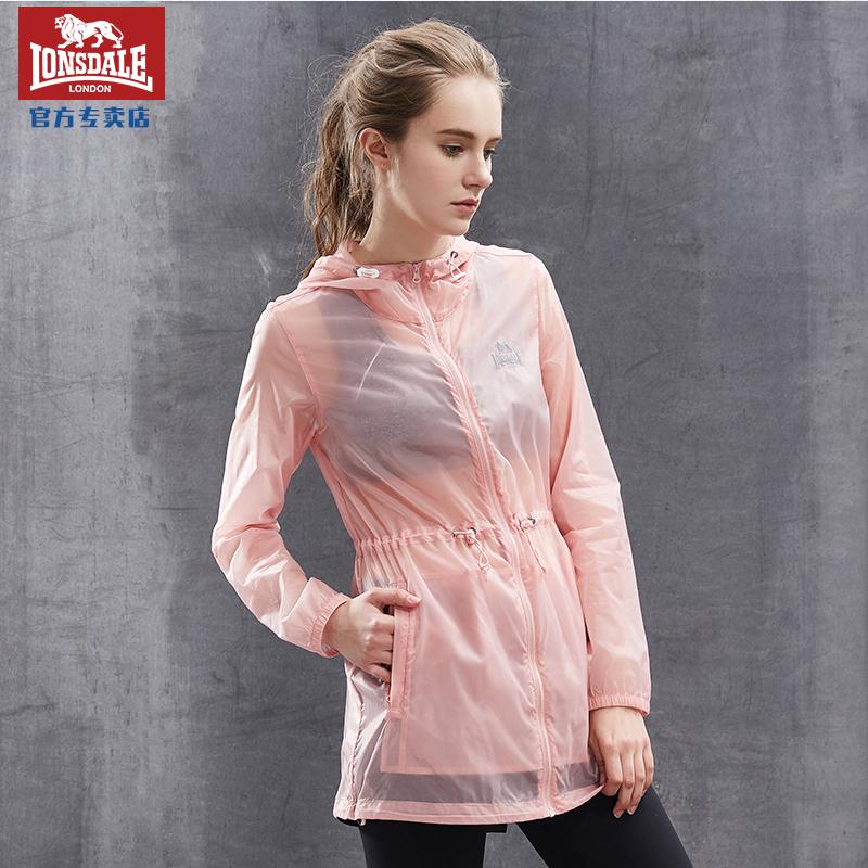 234203165 龙狮戴尔女士防晒衣中长款夏季超薄外套透气百搭皮肤衣
