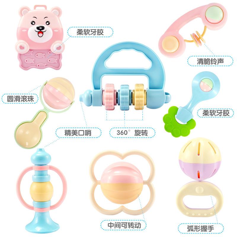 婴儿礼盒套装男女新生儿用品牙胶摇铃宝宝益智玩具母婴满月礼品物