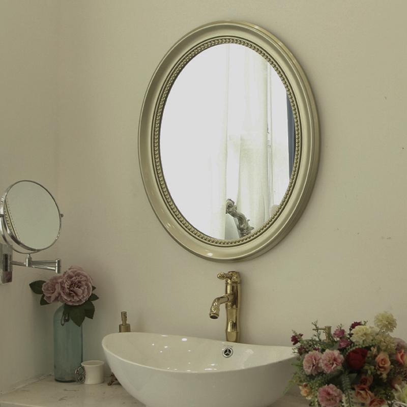 欧式北欧装饰镜壁挂浴室梳妆镜定制尺寸卫生间洗漱台卫浴化妆镜子