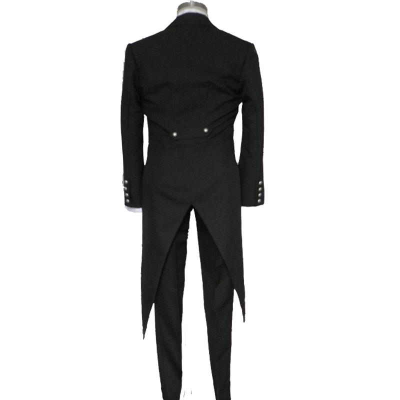 黑执事cos服 赛巴斯蒂安 男黑管家礼服燕尾服cosplay男女表演动漫