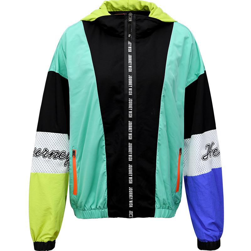 北京森林新款户外运动透气拼色速干衣开衫外套女式 限量无补