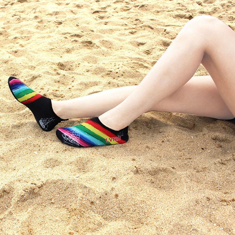 沙滩袜鞋子女男潜水浮潜鞋游泳防滑防割速干软底便携儿童涉水溯溪