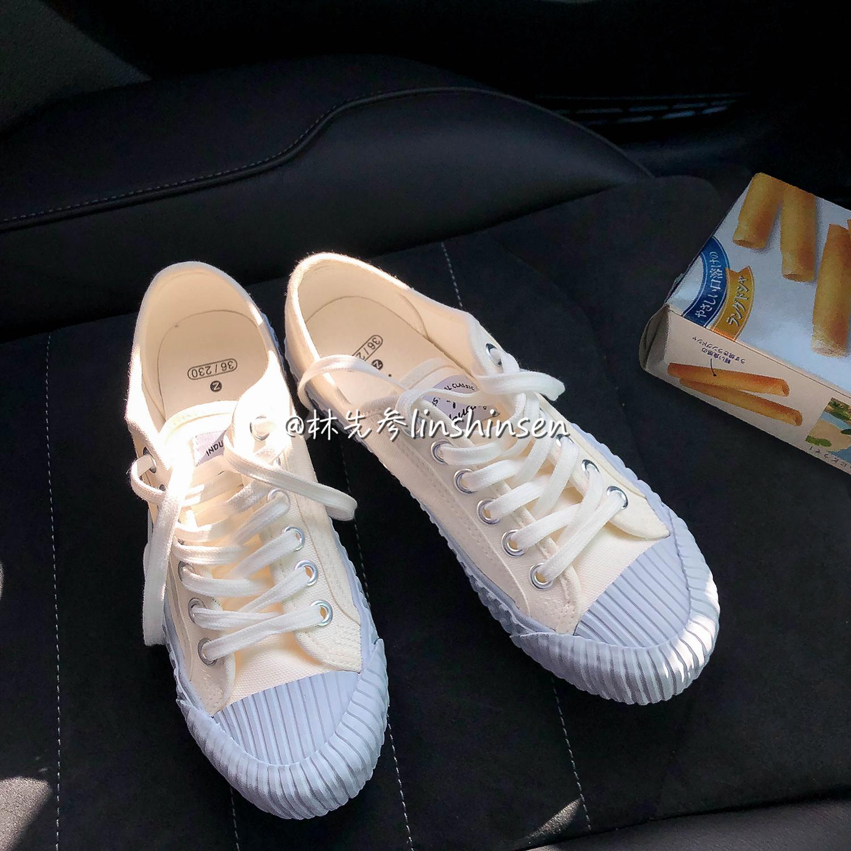 炒好看  林先参 海盐蓝饼干鞋新款韩国小众帆布鞋女学生韩版百搭