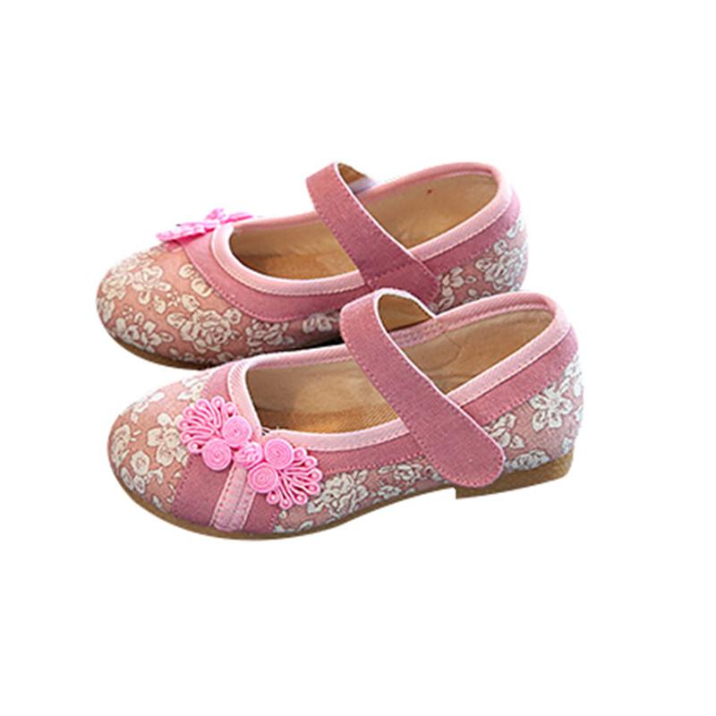 包邮老北京儿童绣花鞋民族风棉麻风儿童手工布鞋女夏宝宝室内鞋潮