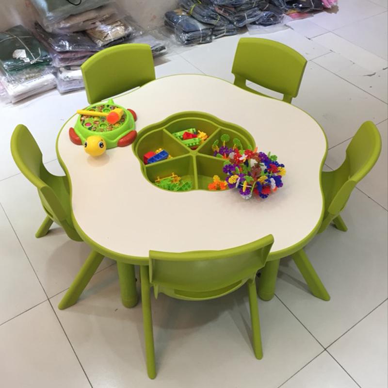 幼儿园玩具桌宝宝桌椅升降儿童桌套装手工画画桌椅收纳桌育才073