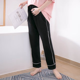 Spring and autumn cotton pregnant women sleeping pants thin cotton maternal pants pregnant women's home pants long belly