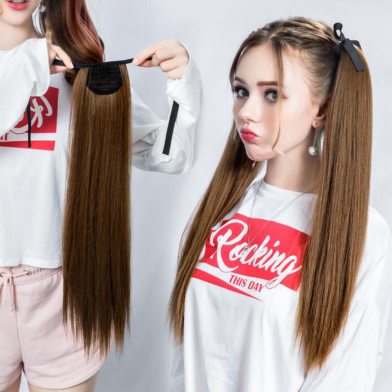 双马尾假发女cos软妹萝莉洛丽塔lolita日系可爱长发长卷发绑带式