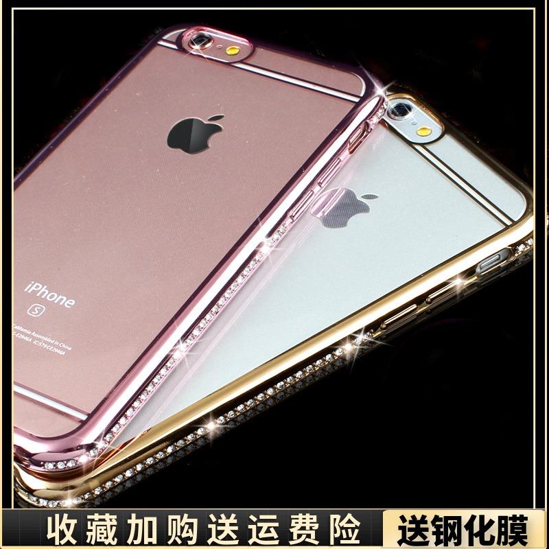 iphone6plus手機殼蘋果i7水鑽保護套6s鑲鑽石電鍍X軟殼8P防摔潮女xs max超薄矽膠全包xr奢華帶鑽網紅時尚滿鑽