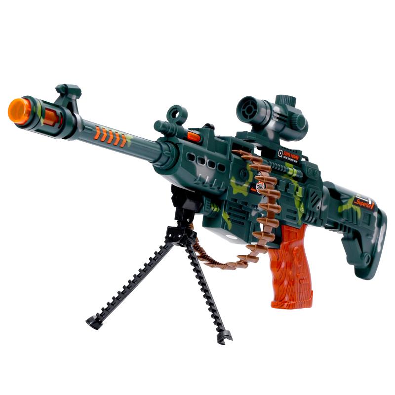 儿童枪宝宝电动玩具枪投影声光音乐男孩女孩2-6岁冲锋枪手抢益智