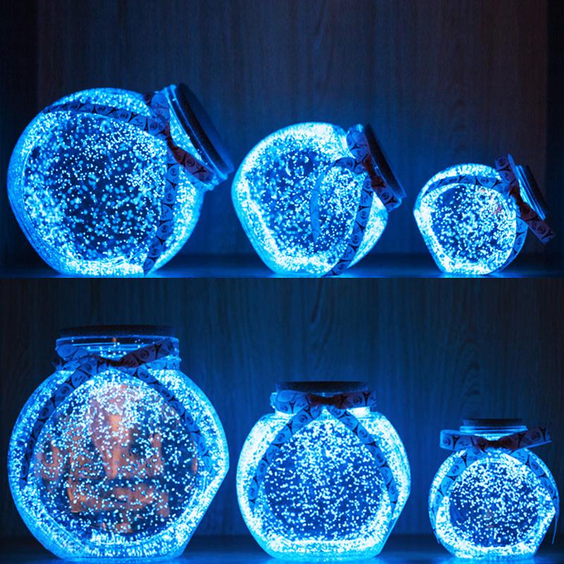 星星瓶520夜光许愿瓶荧光星空瓶玻璃瓶漂流瓶幸运星瓶折星星纸装
