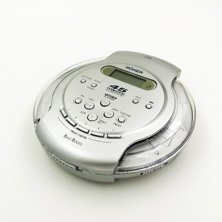 透明盖 便携式 CD机 随身听 CD播放机 带防震 支持英语光盘