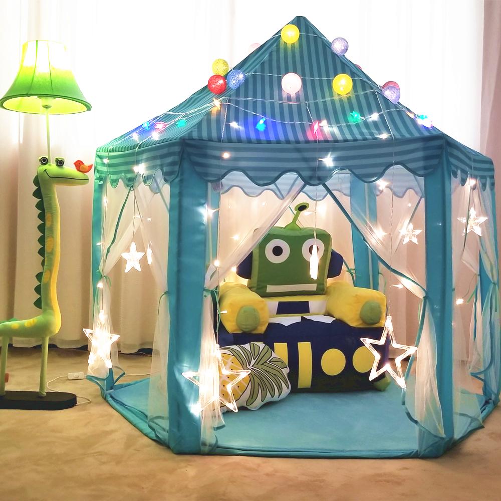 儿童帐篷室内公主娃娃玩具屋超大城堡过家家游戏房子女孩分床神器
